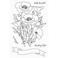 """Εικόνα του My Favorite Things Clearly Sentimental Stamps 4""""X6"""" - Wild Poppies"""