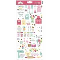 Εικόνα του Dooblebug Mini Cardstock Stickers - Made with Love Icons