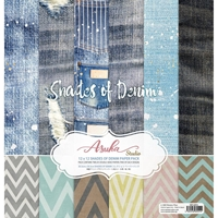 "Εικόνα του Asuka Studio Collection Pack 12""X12"" - Shades Of Denim"