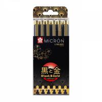 Εικόνα του Sakura Μαρκαδόροι Pigma Micron Black & Gold Edition - Σετ 6 τεμαχίων