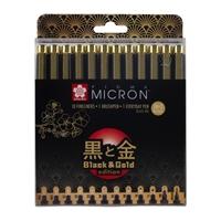 Εικόνα του Sakura Μαρκαδόροι Pigma Micron Black & Gold Edition - Σετ 12 τεμαχίων