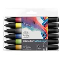 Εικόνα του Winsor & Newton ProMarker Watercolor Marker Set - Basic Tones 6