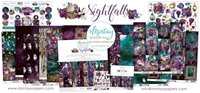 Εικόνα του Mintay Papers Συλλογή Scrapbooking Nightfall - Bundle με Δώρο Element Sheet 12''x12''
