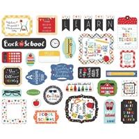 Εικόνα του Echo Park Cardstock Ephemera - Icons, I Love School