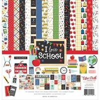 """Εικόνα του Eco Park Double-Sided Collection Kit 12""""x12"""" – I Love School"""
