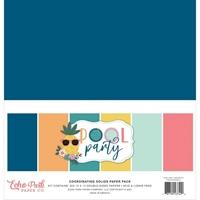 """Εικόνα του Echo Park Μπλοκ Μονόχρωμων Φύλλων Διπλής Όψης 12""""x12"""" – Pool Party"""