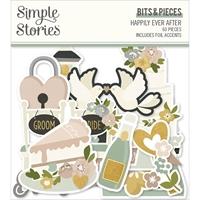 Εικόνα του Simple Stories Bits & Pieces Die-Cuts - Happily Ever After