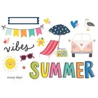 Εικόνα του Simple Stories Simple Pages Page Pieces - Summer Vibes, Sunkissed