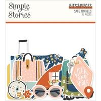 Εικόνα του Simple Stories Bits & Pieces Die-Cuts 71 - Safe Travels