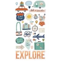 """Εικόνα του Simple Stories Αυτοκόλλητα Chipboard 6""""X12"""" – Safe Travels"""