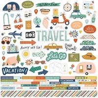 """Εικόνα του Simple Stories Safe Travels Αυτοκόλλητα 12""""X12"""" – Combo"""