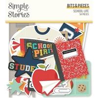 Εικόνα του Simple Stories Bits & Pieces Die-Cuts 58 – School Life