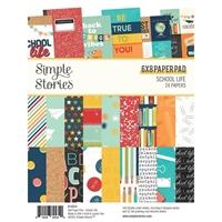 """Εικόνα του Simple Stories Μπλοκ Scrapbooking Διπλής Όψεως 6""""X8"""" – School Life"""