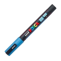 Εικόνα του Μαρκαδόρος POSCA 3M Fine Bullet Tip Pen – Glitter Blue
