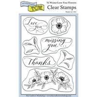 """Εικόνα του Crafter's Workshop Clear Stamps 4""""X6"""" - Love You Flowers"""