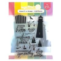 Εικόνα του Waffle Flower Stencil-N-Stamp - Lighthouse