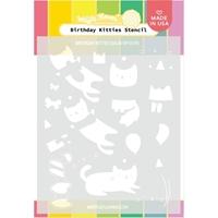 """Εικόνα του Waffle Flower Stencil 5.25""""X6.5"""" - Birthday Kitties"""