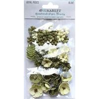 Εικόνα του 49 & Market Royal Posies Χάρτινα Λουλούδια – Olive