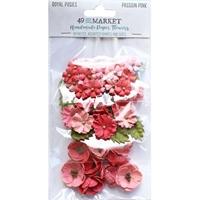 Εικόνα του 49 And Market Royal Posies Χάρτινα Λουλούδια – Passion Pink