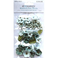 Εικόνα του 49 And Market Royal Posies Χάρτινα Λουλούδια – Ocean Jade