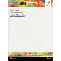 Εικόνα του Tim Holtz Φύλλα Yupo για Μελάνια Οινοπνεύματος 8''x10'' - Διάφανο