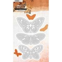Εικόνα του Studio Light Just Lou Cutting & Embossing Die Μήτρες Κοπής - No. 18 Butterfly Collection