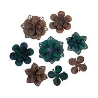 Εικόνα του Finnabair Mechanicals Μεταλλικά Διακοσμητικά - Grungy Succulents
