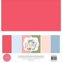 """Εικόνα του Carta Bella Μπλοκ Μονόχρωμων Φύλλων Διπλής Όψης 12""""x12"""" – Summer"""