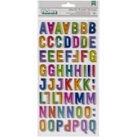 Εικόνα του Vicki Boutin Color Study Thickers Αυτοκόλλητα - Modern Art Alphabet/Chipboard