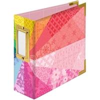 """Εικόνα του We R Memory Keepers Paper Wrapped D-Ring Album 4""""X4"""" - Color Wheel By Paige Evans"""