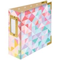 """Εικόνα του We R Memory Keepers Paper Wrapped D-Ring Album 4""""X4"""" - Geometric By Paige Evans"""