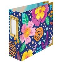 """Εικόνα του We R Memory Keepers Paper Wrapped D-Ring Album 4""""X4"""" - Floral By Paige Evans"""