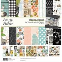 Εικόνα του Simple Stories Double-Sided Collection Kit 12''x12'' –  Simple Vintage Farmhouse Garden