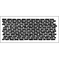 """Εικόνα του Crafter's Workshop Slimline Stencil 4""""X9""""- Bricks Horizontal"""