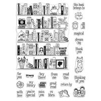 """Εικόνα του Hero Arts Σετ Σφραγίδες 6""""X8"""" – Bookcase Peek-A-Boo"""