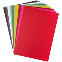 """Εικόνα του Sizzix Surfacez Cardstock Pack 8""""X11.5"""" - Festive, 10 Colors"""