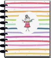 Εικόνα του Happy Planner 12-Month Dated Classic Teacher Planner - Stick Girl, Aug 21 - Jul 22