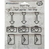 Εικόνα του 49 & Market Foundations Paper Clips -Arrow, Camera, Envelope In Dark Greige