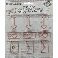 Εικόνα του 49 And Market Foundations Paper Clips -Arrow, Camera, Envelope In Rose Gold