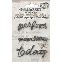 Εικόνα του 49 & Market Foundations Paper Clips - Perfect, Memories & Today In Dark Greige