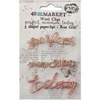 Εικόνα του 49 And Market Foundations Paper Clips - Perfect, Memories & Today In Rose Gold