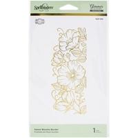 Εικόνα του Spellbinders Glimmer Hot Foil Plate & Die By Becca Feeken -  Sweet Blooms Border-Delicate Impressions
