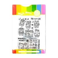 """Εικόνα του Waffle Flower Crafts Σετ Διάφανες Σφραγίδες 4""""X6"""" - Winter Hamster"""