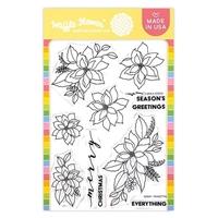 Εικόνα του Waffle Flower Crafts Stamps – Poinsettia