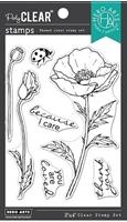 """Εικόνα του Hero Arts Hero Florals Σετ Σφραγίδες 3""""X4"""" - Poppy"""
