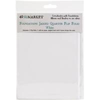 Εικόνα του 49 And Market Foundations Jagged Quarter Flip Folio - White