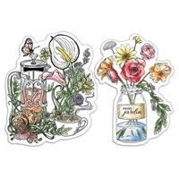 """Εικόνα του Ciao Bella Stamping Art Clear Stamps 4""""X6"""" - Thé et mon fleurs, Notre Vie"""