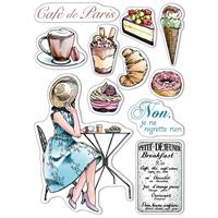 """Εικόνα του Ciao Bella Stamping Art Clear Stamps 6""""X8"""" - La Boulangerie, Notre Vie"""