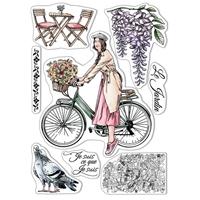 """Εικόνα του Ciao Bella Stamping Art Clear Stamps 6""""X8"""" - Je Suis Ce Que Je Suis, Notre Vie"""