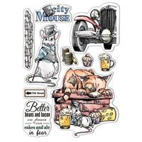 """Εικόνα του Ciao Bella Stamping Art Clear Stamps 6""""X8"""" - The City Mouse, Aesop's Fables"""
